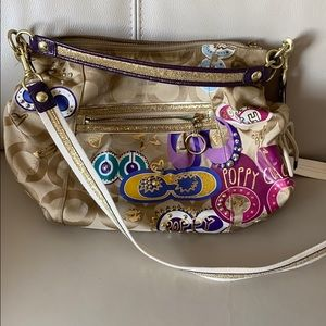 Coach Poppy Purse with Two Detachable Straps